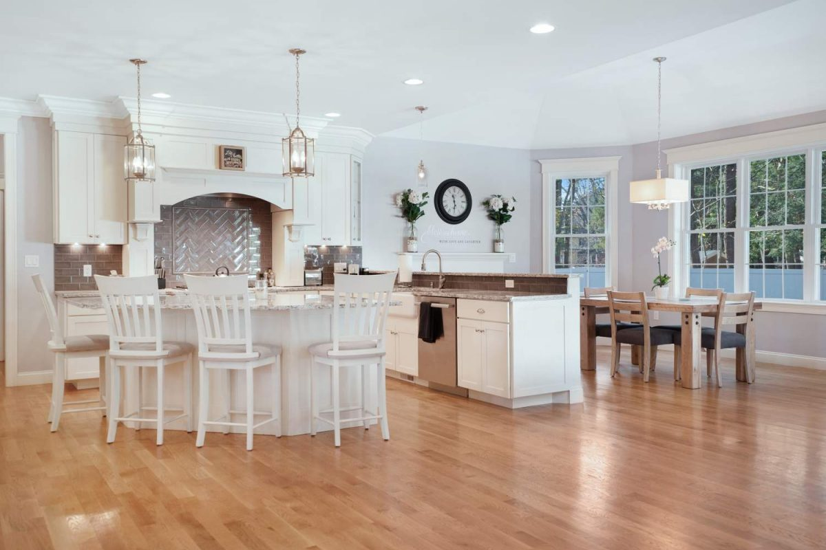 Open Concept Kitchen & DIning Room - Lynnfield, MA