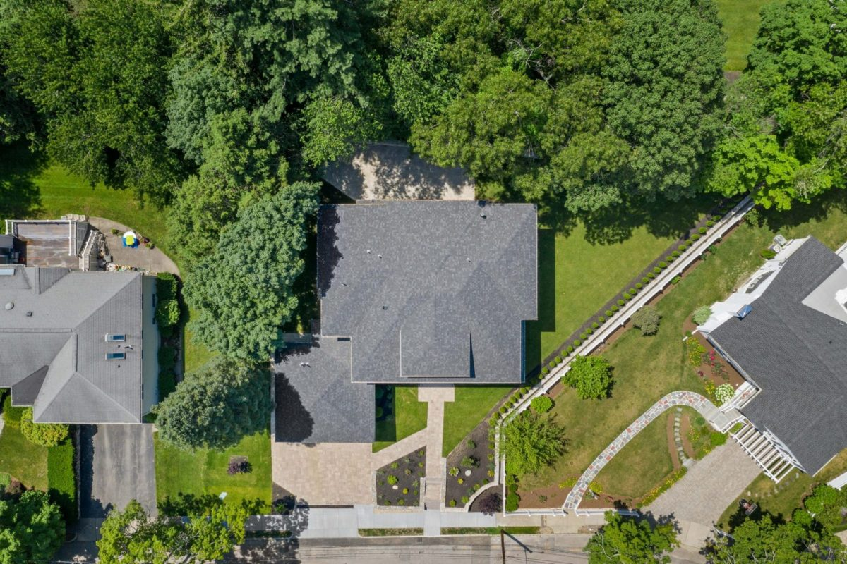 Birds-eye View Real Estate Photo